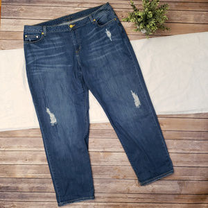 Michael Kors Dillion Relaxed Distressed Jeans 18W